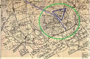 dispositif défensif du IIIe bataillon du 99 : position des 9e, 10e et 11e cies