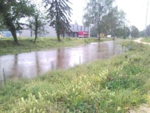 Unser Bächlein (eher ein Fluss)