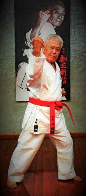 Kaicho Miyagi Takeshi 10. Dan Hanshi im Miyagi-Dojo Urasoe - Okinawa