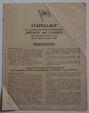 Merkblatt für die Presse