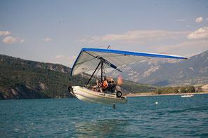 décollage sur l'eau