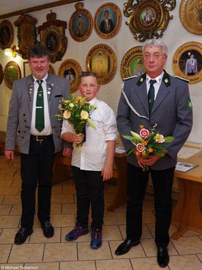 unsere neuen Mitglieder: Max Hermann Göhring (Mitte) und Ralf Stegner (rechts)