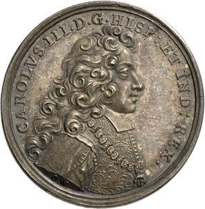Karl III. auf seiner Reise durch Deutschland in Leipzig