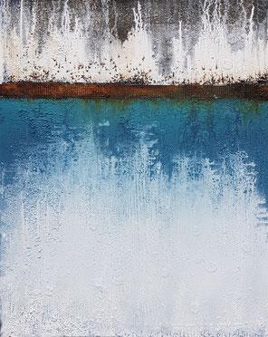 Frost/ 80x100 / November 2018 / Acryl-Mischtechnik auf Leinwand