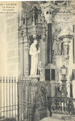 La statue de Saint-Colomban à Locminé