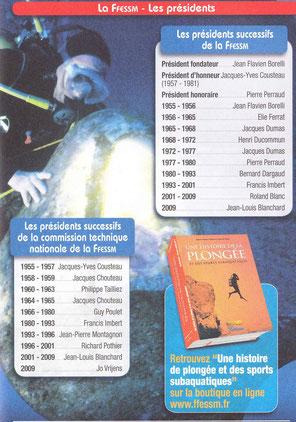 Passeport de la FFESSM page 11,cliquez sur l'image pour l'agrandir