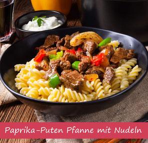 Rezept Paprika Puten Geschentzeltes mit Nudeln