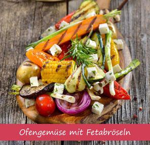 Rezept Ofengemüse mit Feta Käse