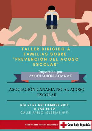 ACANAE - TALLER DE PREVENCION BULLYING EN GUIMAR TENERIFE JUNTO A CRUZ ROJA