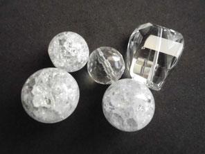 Bergkristall gecrackt und vollfacettiert in Kugel- & Freiform