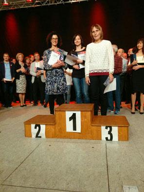Anja, Kathrin und Cornelia, Siegerinnen der Damen-Mannschaftswertung