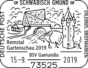 Sonderstempel zur Remstal Gartenschau 2019 in Schwäbisch Gmünd