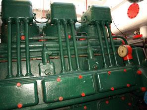 Moteur Baudoin DG3 du bateau Baliseur Somme II (Crédit photo : Christian Porquet)
