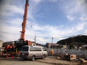 多治見市立昭和小学校の体育館を造っています!