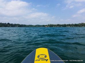 Stand up paddling sur le lac de Pilsensee