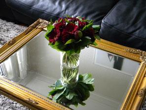 un bouquet de bienvenue de la part de Pia et Niels
