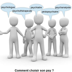 Comment choisir son psy ? Quel psy choisir entre psychiatre, psychologue, psychothérapeute, psychanalyste ? Quelles différences ? Petiteau, psychologue Vendargues