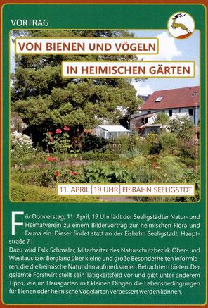 Bild: Seeligstadt 2019 Vortrag Bienen