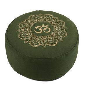 Meditationskissen olive grün Mandala OM