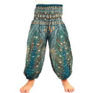 Kinder Haremshose Feature türkis