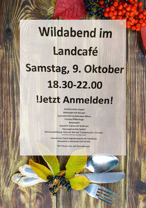Land-Café - Wildabend