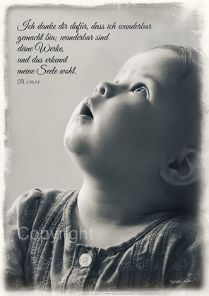 danken, hinaufschauen, Psalm