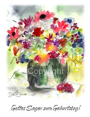 Blumenstrauss Gottes Segen zum Geburtstag