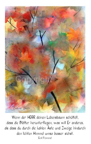 Herbstblätter, Lebensbaum Himmel sehn