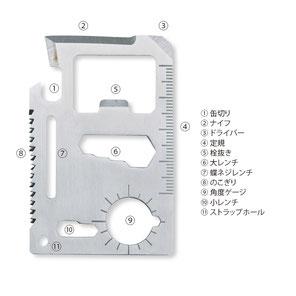 カード型マルチツール