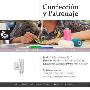 Taller de Confección y Patronaje - Centro Gráfico de Tecnología
