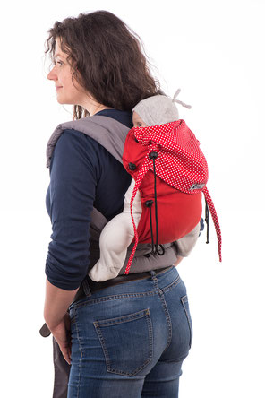 Huckepack Mei Tai baby carrier, very adjustable, grows with your child.