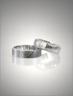 Wedding ring - silver - Nelly Chemin