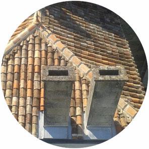 Entourage de cheminée en zinc réalisé par l'entreprise Tempérault Bruno située à Rouillac en Charente