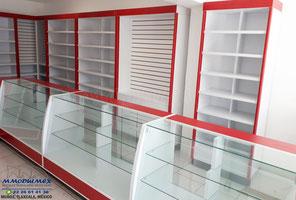 Vitrinas y mostradores para farmacias y papelerías