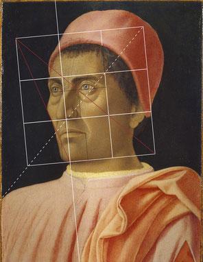 (21) Andrea Mantegna, Ritratto del cardinale Carlo de' Medici, 1470-75 circa, tempera su legno, 40,5 x 29,5 cm, n. invent. 8540, Galleria degli Uffizi / Firenze