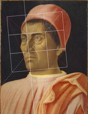 (Bild 21) Andrea Mantegna, Bildnis des Kardinals Carlo de' Medici, ca. 1470-75, Tempera auf Holz, 40,5 x 29,5 cm, Inv.Nr. 8540, Galleria degli Uffizi / Florenz