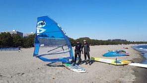 スクール画像 ウインドサーフィン始めるなら神奈川県横浜市金沢区 海の公園のスピードウォール