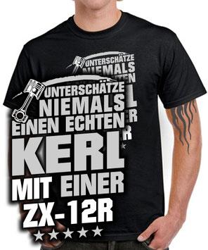 ZX-12R Tuning Zubehör Biker T-SHIRT ECHTER KERL Spruch Motorrad Ninja Teile