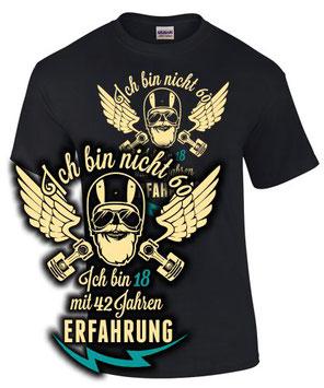 T-Shirt Motorrad Biker Geburtstag 60
