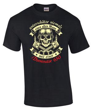 NX 650 Dominator T-Shirt Motiv Spruch Biker Motorrad