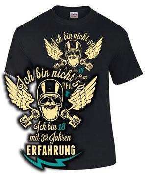 T-Shirt Motorrad Biker Geburtstag 50