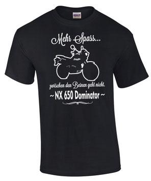 NX 650 Dominator T-Shirt Motiv Spruch Biker Motorrad Honda