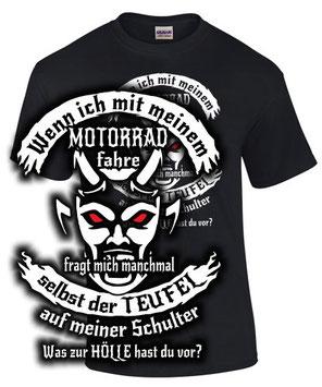 T-Shirt Motorrad Spruch Biker Teufel Club Treffen