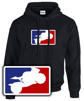 MAJOR LEAGUE BIKER Motorrad Supersport FUN HOODIE Racing , No Limit , Superbike
