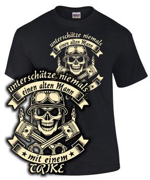 Trike Tuning Triker Treffen T-Shirt ALTER MAN MIT EINEM TRIKE tour turbo zubehör