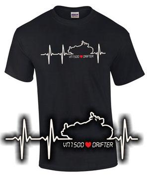VN 1500 Drifter Tuning Zubehör T-Shirt