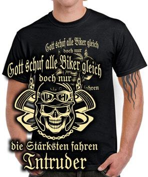 INTRUDER Tuning T-Shirt Zubehör NUR DIE STÄRKSTEN FAHREN Motorrad 1400 1800 800