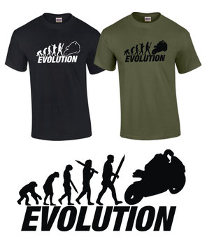 FUN T-SHIRT EVOLUTION SUPERBIKE Biker Tuning Motorrad Treffen Moto GP Supersport