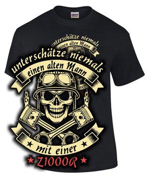 Biker Fun T-Shirt Z 1000 R Tuning ALTER MANN MIT Motorrad Treffen Spruch