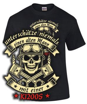 K1200S Tuning T-Shirt ALTER MANN MOTORRAD Treffen bmw Biker SATIRE Spruch Teile Zubehör